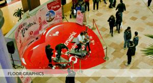 Floor graphics, Pma Invest, Iulius Mall, decor autocolant