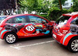 Kiss fm, colantare auto, Pma Invest