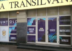 Decor vitrina, window graphic, Banca Transilvania, Pma Invest